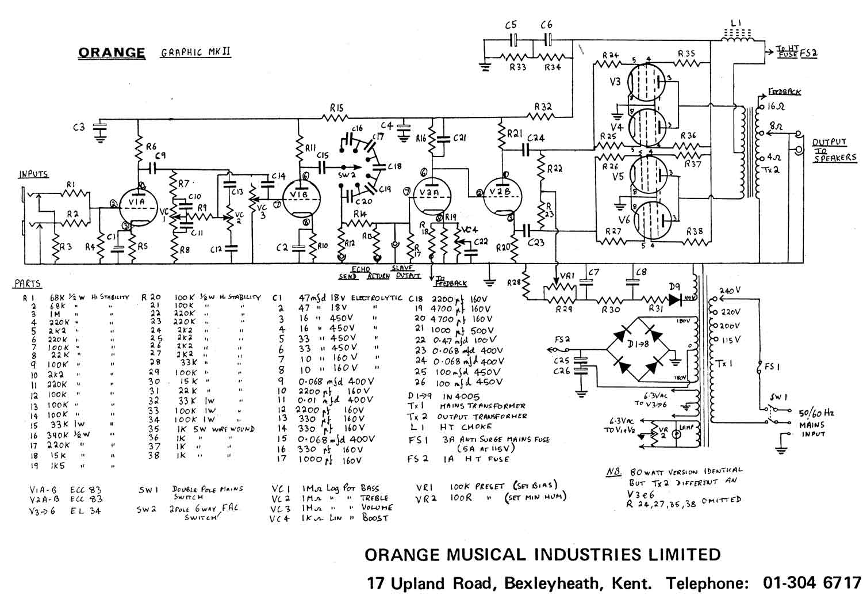 Sheet Music And Scores Mesa Boogie Dual Rectifier Circuit Diagram Orange Graphic120mkii