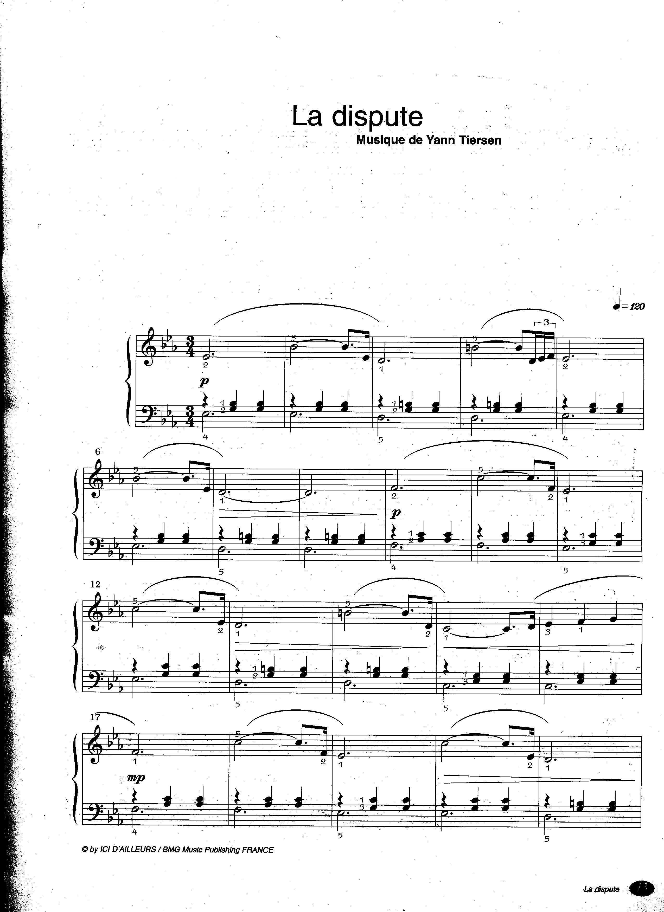 Ноты из амели